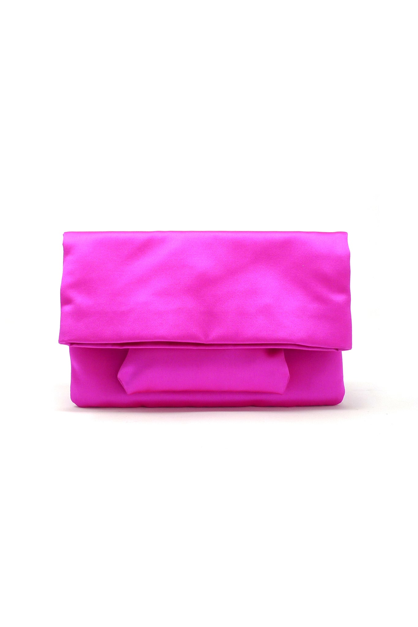 Aperitivo Clutch in Fuchsia Satin