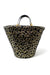 Beach Tote in Leopard Lurex Raffia