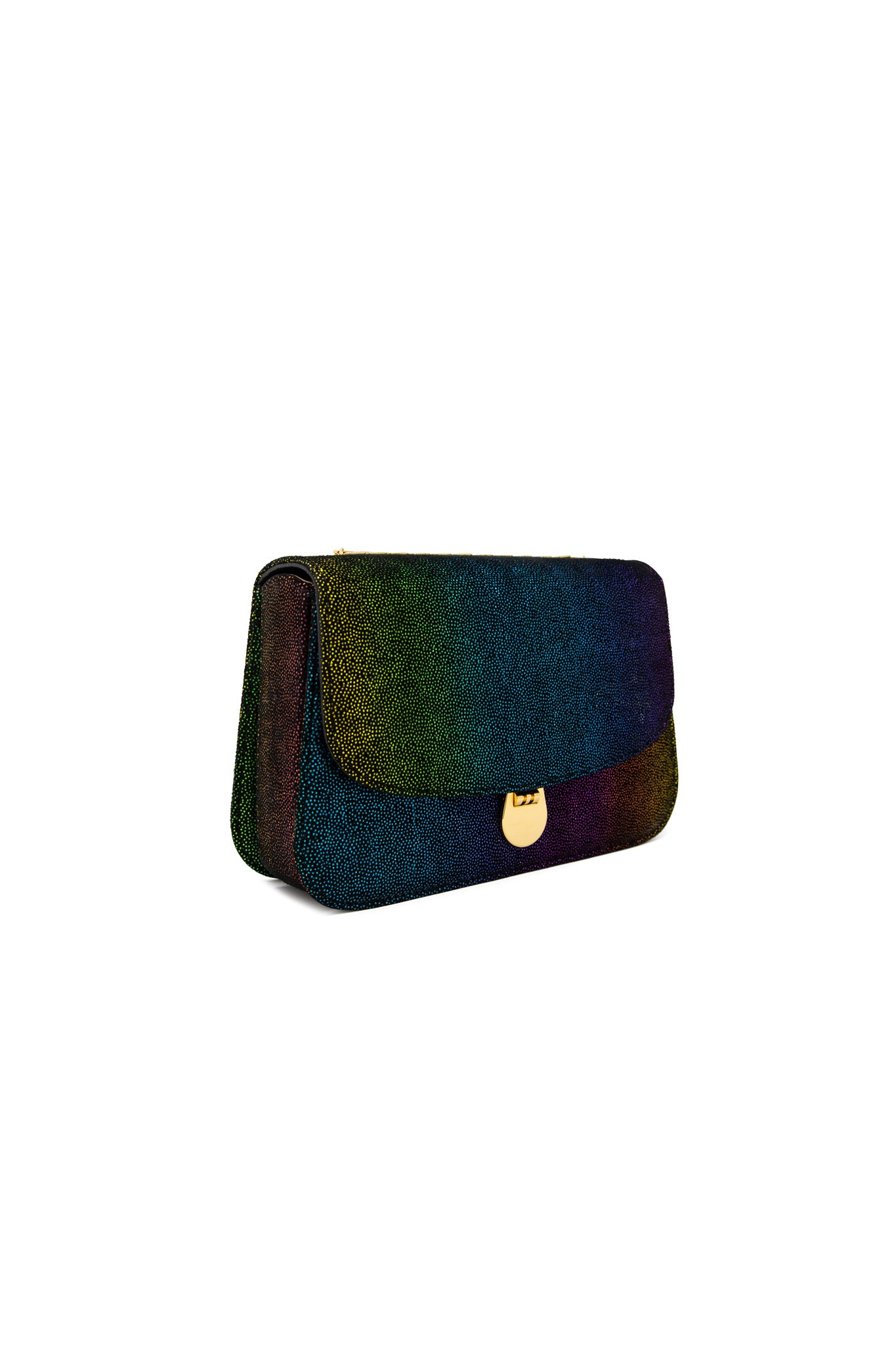 Sabi Shoulder Bag in Rainbow Leather