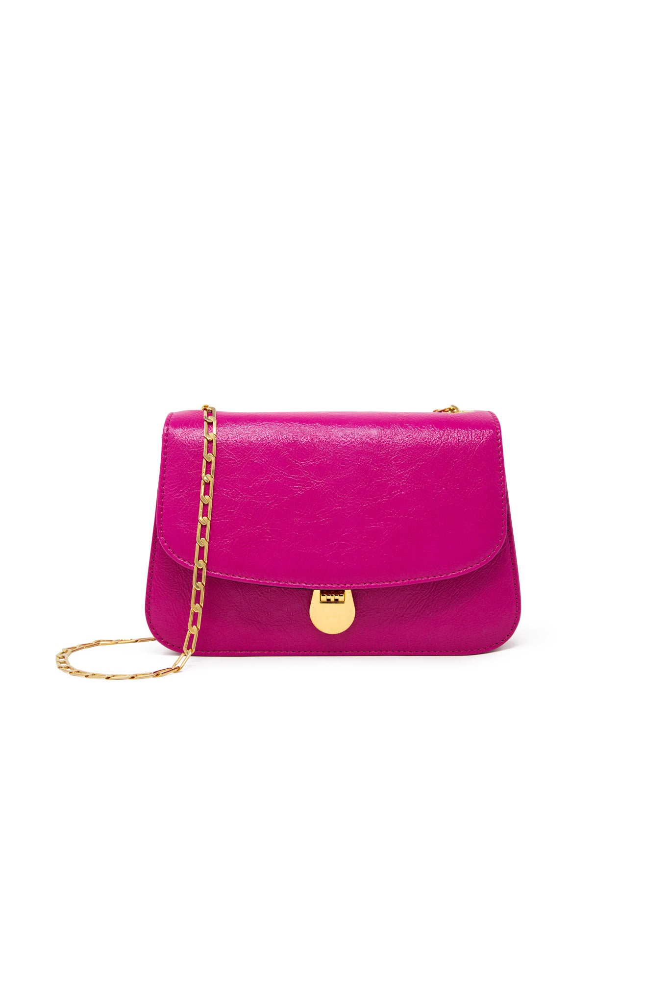 Sabi Shoulder Bag in Electric Pink Leather