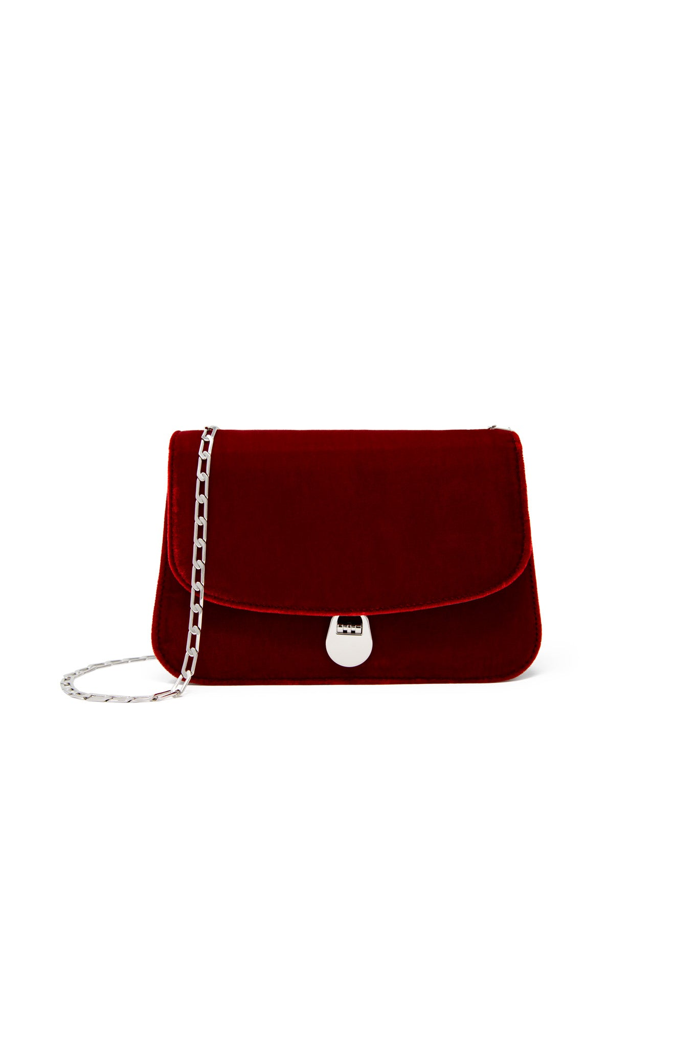 Sabi Shoulder Bag in Red Velvet