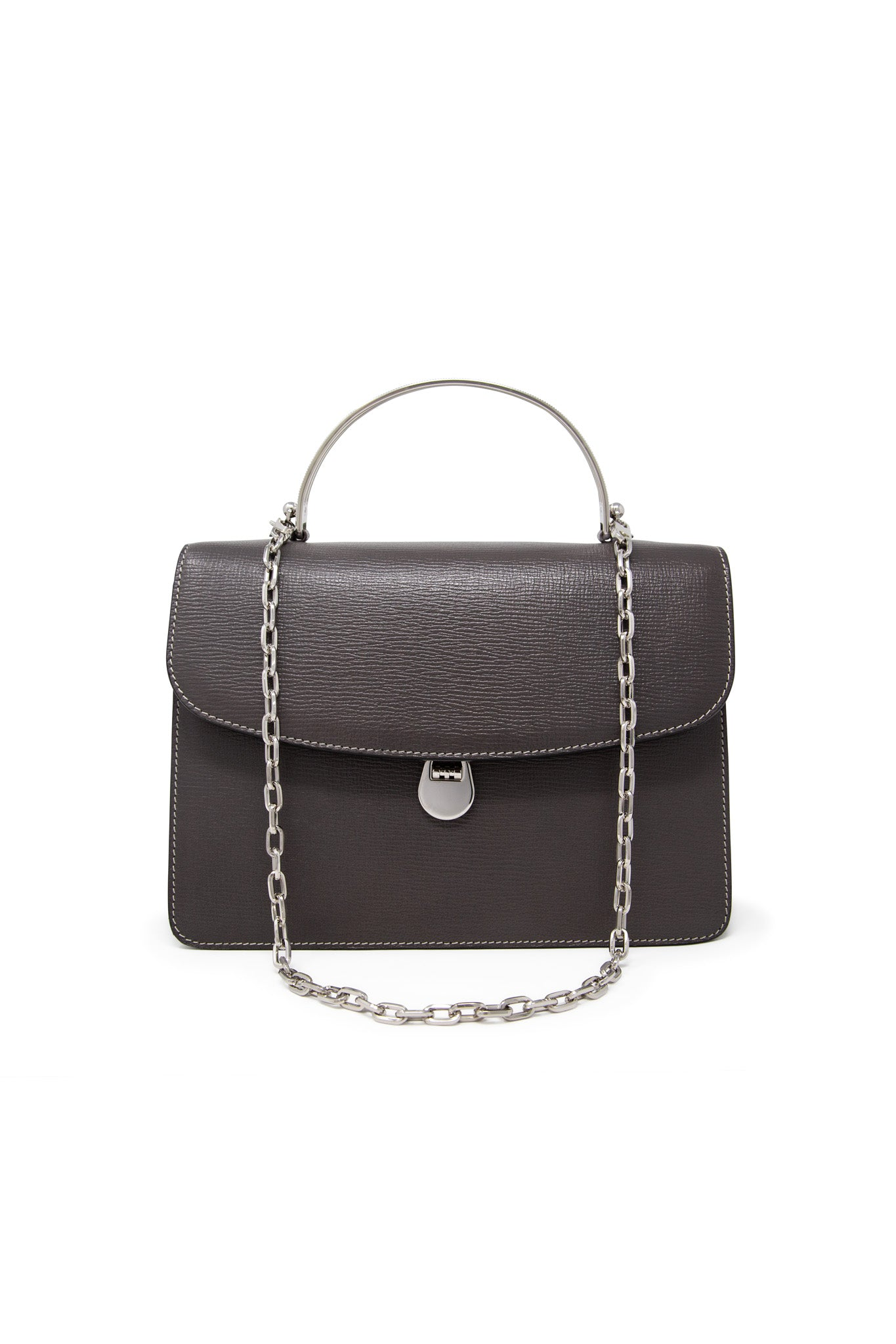 Charlie Top Handle Bag in Shadow Leather