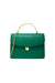 Charlie Top Handle Bag in Green Leather