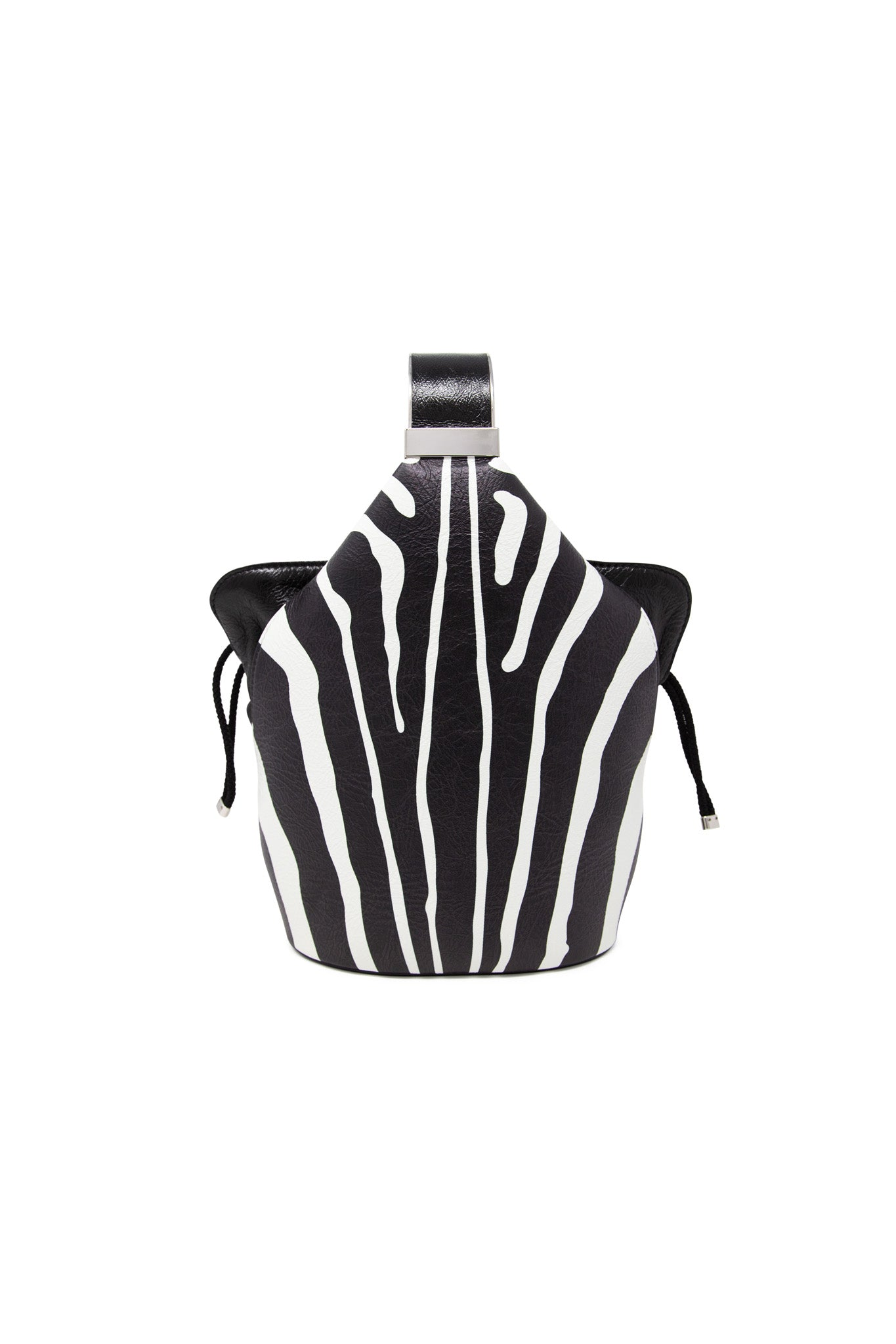 Kit Bracelet Bag in Zebra Printed Leather