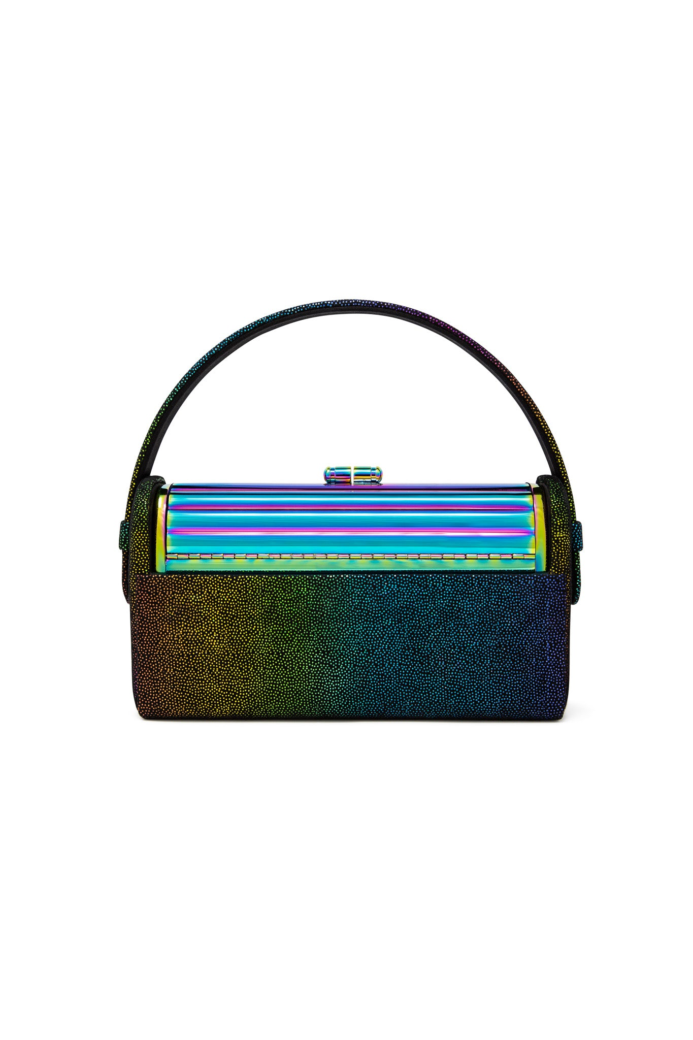 Oil Slick Tubular Régine Minaudière with Rainbow Leather Case