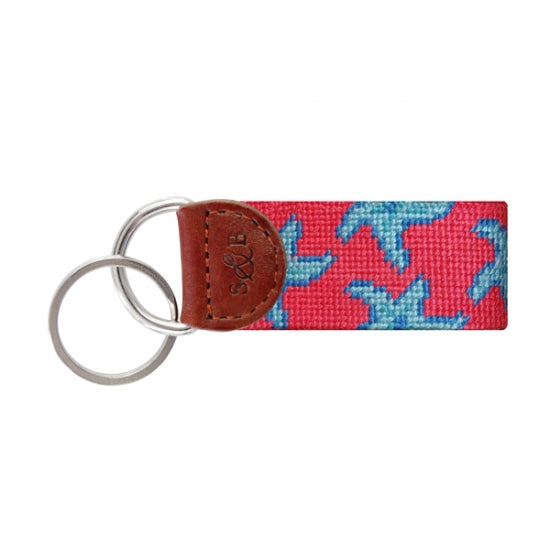 Starfish (Watermelon) Needlepoint Key Fob