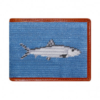 Bonefish Needlepoint Bi-Fold Wallet