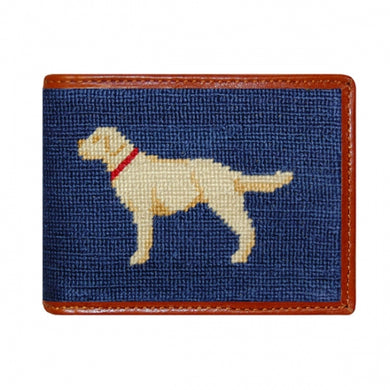 Yellow Lab Needlepoint Bi-Fold Wallet