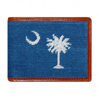 South Carolina Flag Needlepoint Bi-Fold Wallet