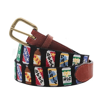 Beer Cans Needlepoint Belt