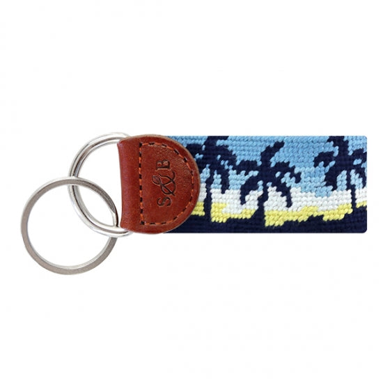 Oasis Needlepoint Key Fob