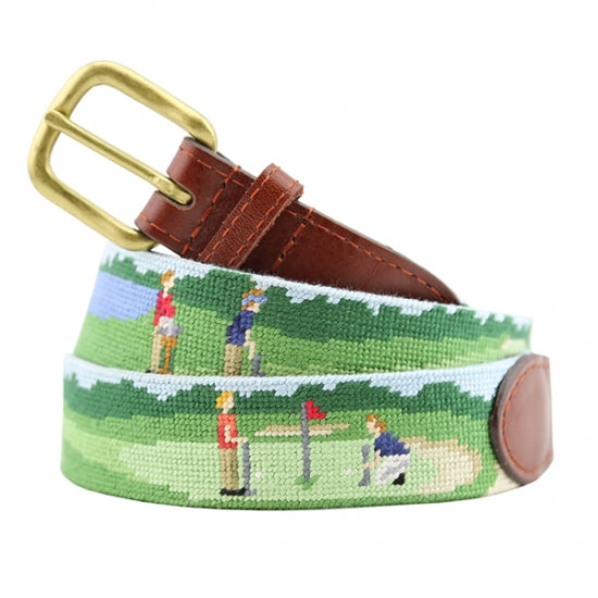 On The Links Needlepoint Belt