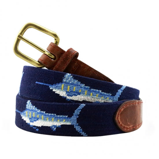 Billfish (Navy) Needlepoint Belt