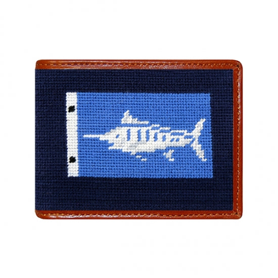 Marlin Sportfishing Needlepoint Bi-Fold Wallet