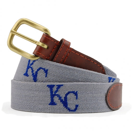 Kansas City Royals Cooperstown Needlepoint Belt