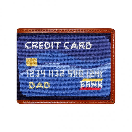 Dad's Credit Card Needlepoint Bi-Fold Wallet