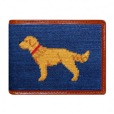 Golden Retriever Needlepoint Bi-Fold Wallet