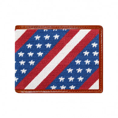 Star Spangled Banner Needlepoint Bi-Fold Wallet
