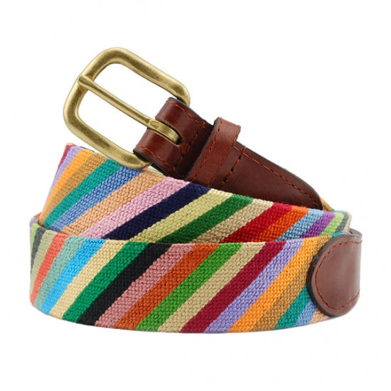 Parsons Stripe Needlepoint Belt