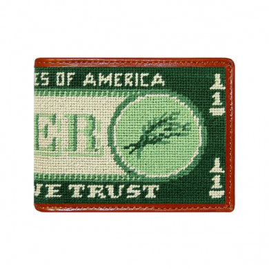 Beer Money Needlepoint Bi-Fold Wallet