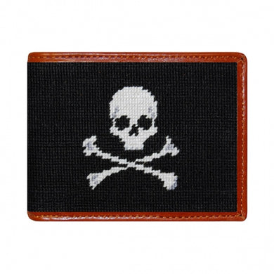 Jolly Roger Needlepoint Bi-Fold Wallet