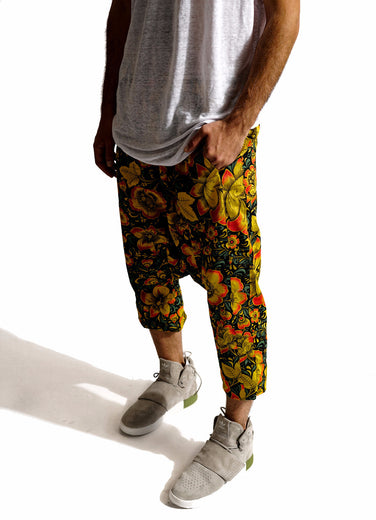 Dropped Crotch Floral pant