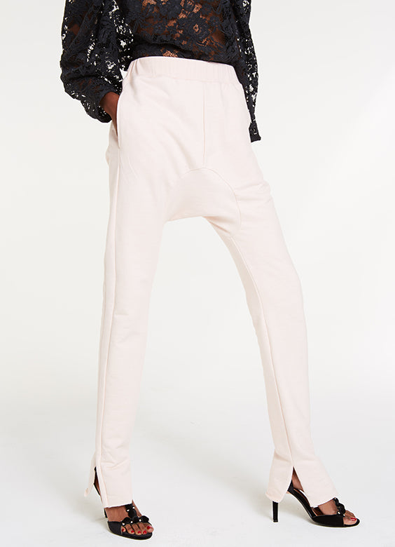 High and Low Sweat Pants / Petal Pink