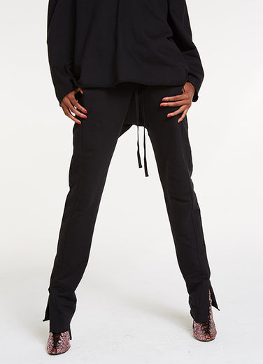 High and Low Sweat Pants / Black