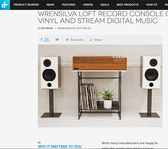 Digital Trends: Wrensilva Loft Console Can Play Your Vinyl and Stream