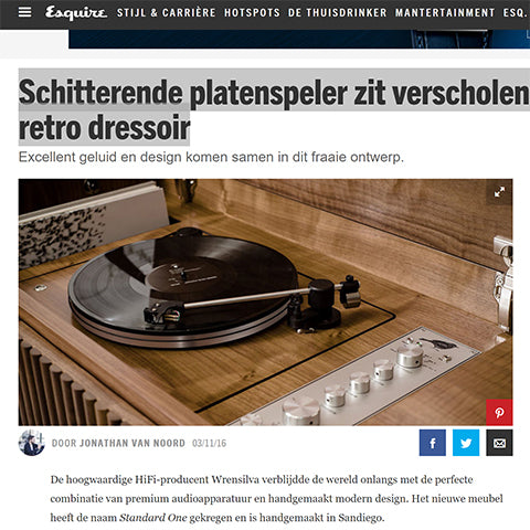 Esquire Netherlands Wrensilva Standard One Record Console