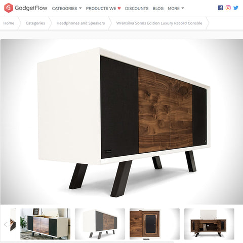GadgetFlow: Wrensilva Sonos Edition Luxury Record Console