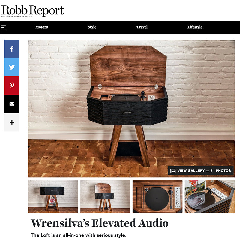Robb Report Australia Wrensilva Loft article