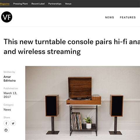 The Vinyl Factory: Wrensilva turntable console pairs hifi analog and..