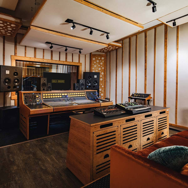 The recording studio at Gold-Diggers