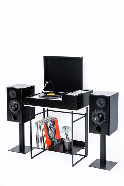 black loft console and monitor bundle