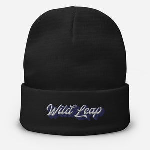 Embroidered Beanie - Wild Leap Retro Script