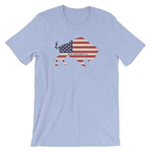 Buffalo Flag T-Shirt - Wild Leap Brew Co.