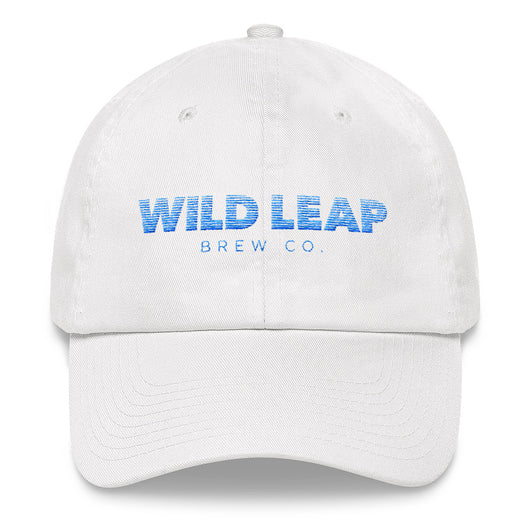 Blurred Lines Women's hat (blue text) - Wild Leap Brew Co.
