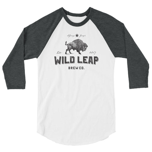Logo 3/4 sleeve raglan shirt - Wild Leap Brew Co.