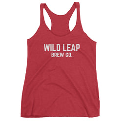 Women's College Racerback Tank - Wild Leap Brew Co.