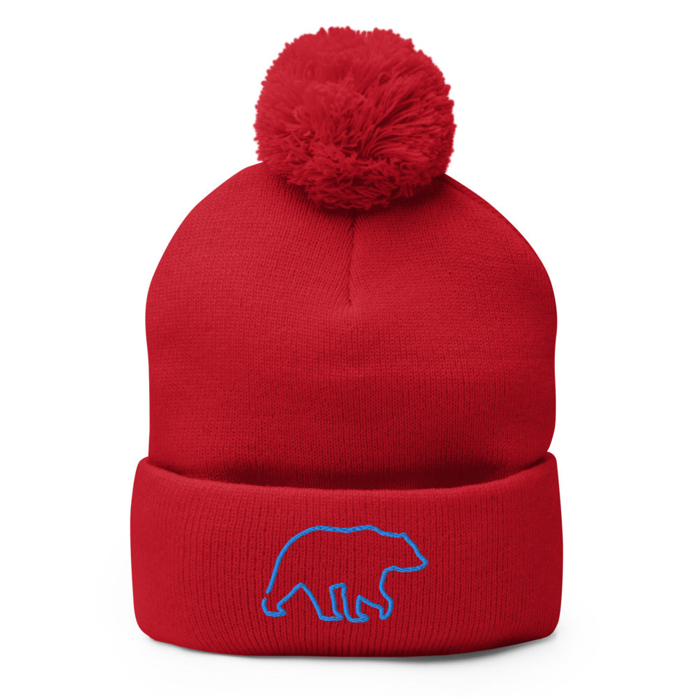 Pom-Pom Beanie - Wild Leap Vodka Bear