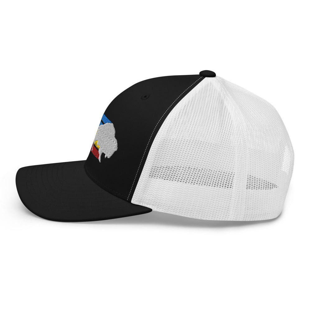 Retro Stripes Trucker Hat
