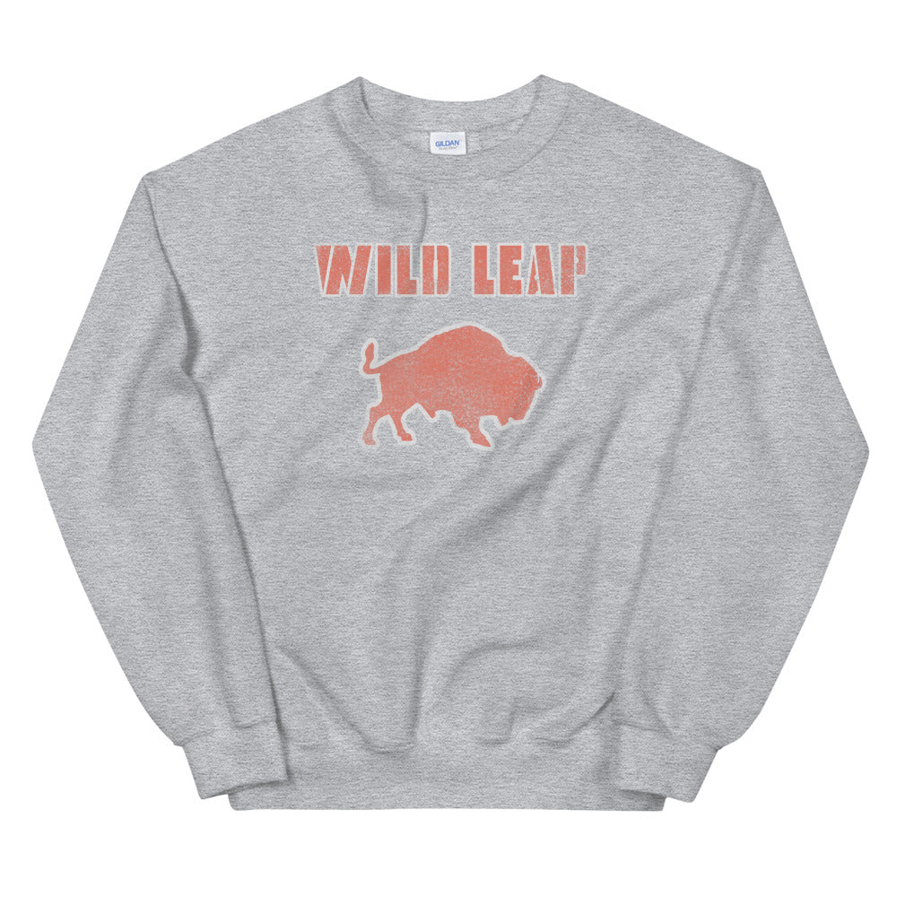 Retro Distressed Block Type Sweatshirt