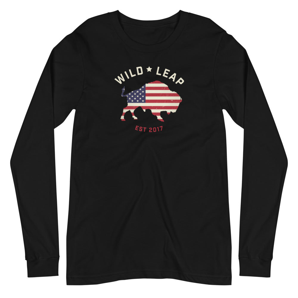 Stars & Stripes Unisex Long Sleeve Tee