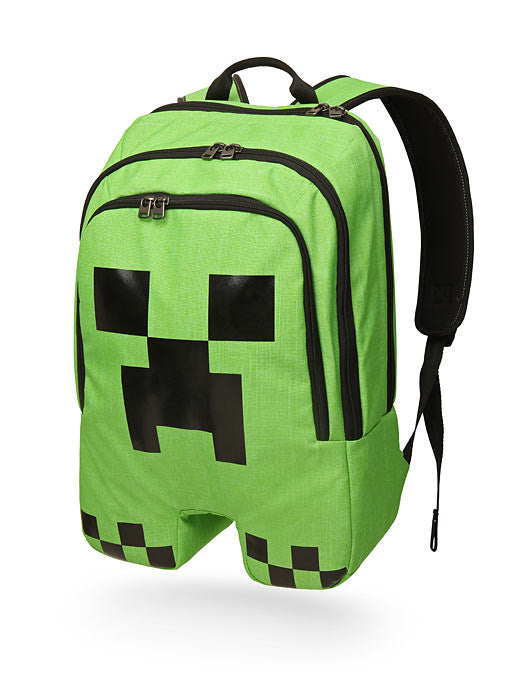 Minecraft creeper shaped backpack