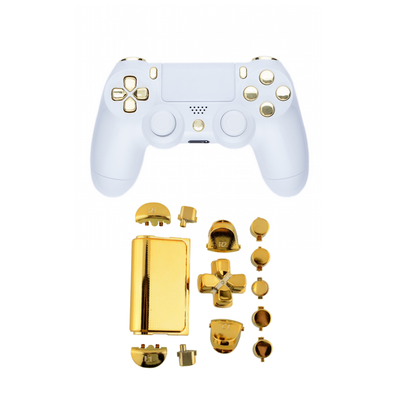 PS4 Chrome Gold Button set