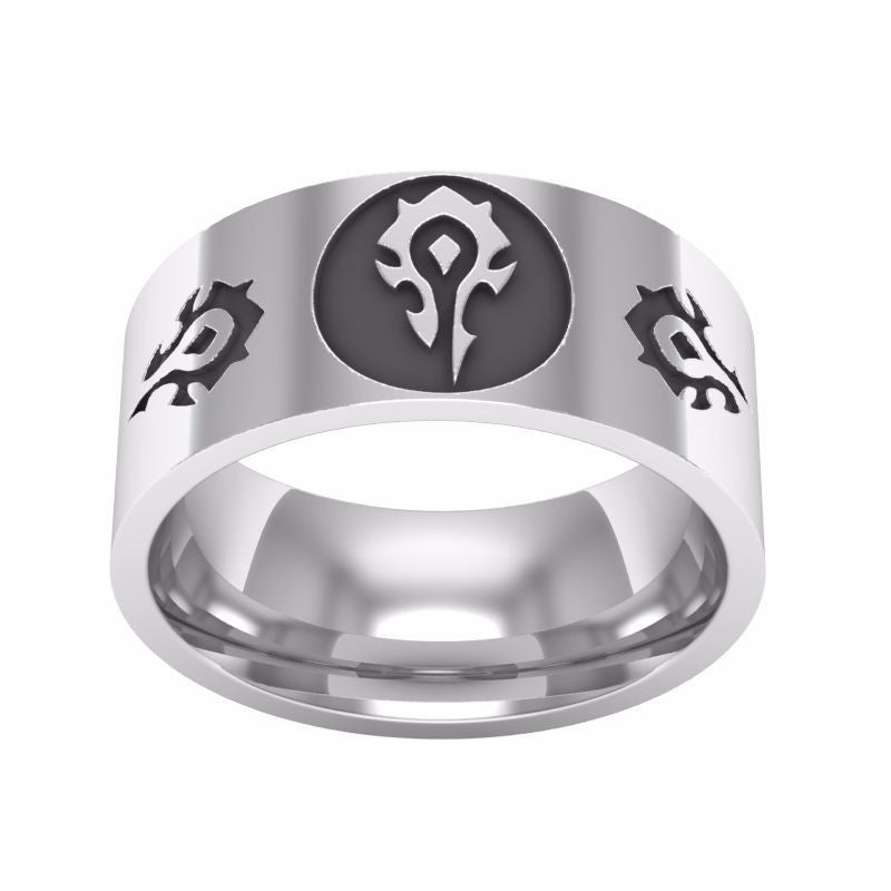 World of Warcraft horde ring stainless steel (premium)