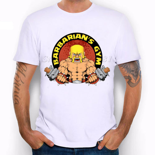 Clash of clans barbarian's gym t-shirt