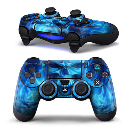 PS4 Controller Blue phantom skin