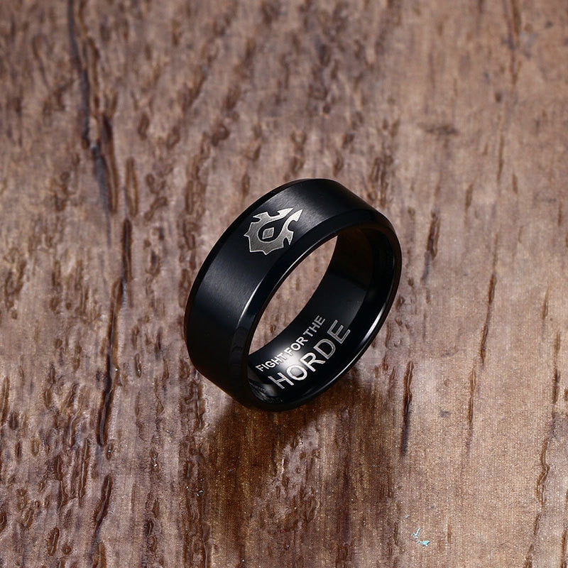 World of Warcraft Horde Alliance Titanium Ring